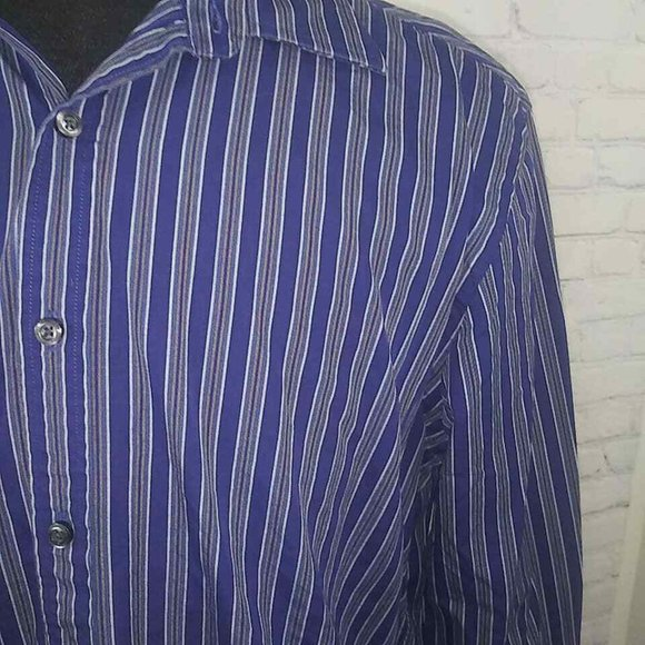 Austin Reed Shirts Austin Reed London Shirt Sz L Striped Cotton Ls Poshmark